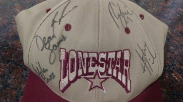 Very Rare 1/1 Lone Star Hat the Band Signed x5 Country Music Superstars