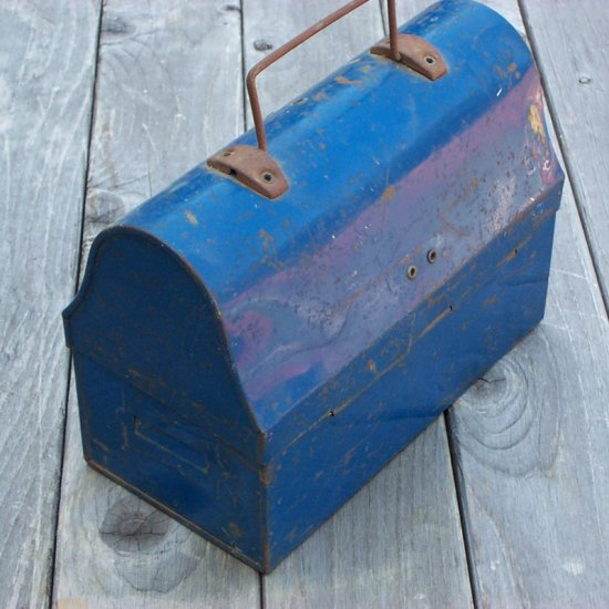 SOLD Vintage 1941 Blue Lunch Box