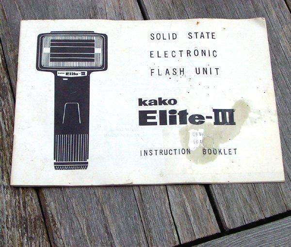 Manual for Electronic Flash unit KAKO Elite III
