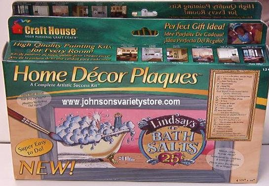 """Lindsay's Bath Salts"" Home Decor Plaque Craft Kit"