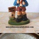 Vintage Hummel style - Little Boy Hiking Ornament