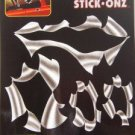 """TORN METAL"" STICK-ONZ / HELMETS AUTO DECALS"