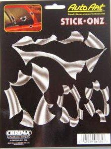 """""""TORN METAL"""" STICK-ONZ / HELMETS AUTO DECALS"""