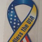 """GOD BLESS THE USA"" AMERICAN FLAG MAGNET - Lg"