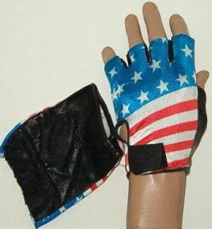 """AMERICAN FLAG"" MOTORCYCLE FINGERLESS GLOVES"
