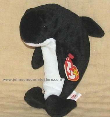 """WAVES"" ORCA WHALE Beanie Baby - RETIRED"
