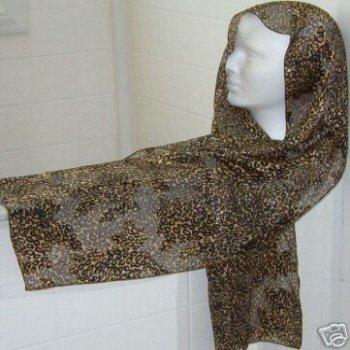 "Ladies Animal / Leopard Print Scarf (13"" x 60"")"