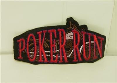"2 1/4"" x 4 1/2"" ""Poker Run"" Patch / motorcycle"