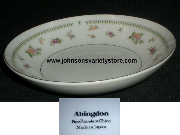Fine China Japan ABINGDON Saucer Platinum Trim