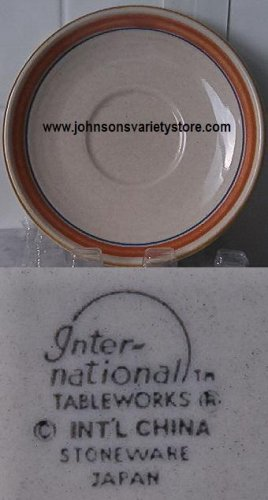Inter-national Tableworks, Int'l China Stoneware saucer