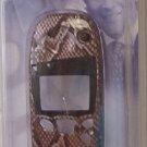 GE Sanyo Cellular Face Plate, snake skin Nokia 5100