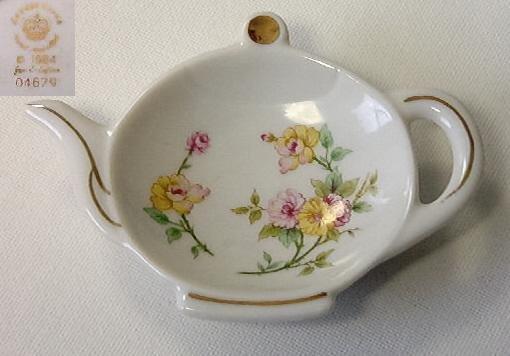 Rare Lefton Teapot shaped dish w/ Lefton signature