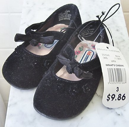 Toddler Dress / casual Black suede shoes sz 3 New