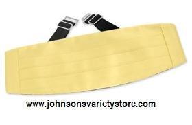 Baby Yellow by Elite Solid yellow silk cummerbunds