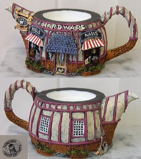 "HomeTown Cottage Ceramic Teapot ""Hardware"""