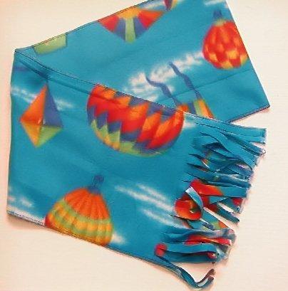 Unisex Balloons & Kites Blue Fleece scarf