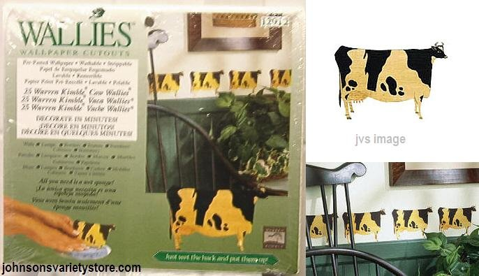 Wallies Warren Kimble FOLK ART COWS Wallpaper Cutouts