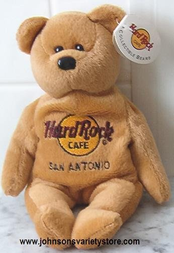 Hard Rock Cafe - San Antonio Beanie bear NEW 1st series