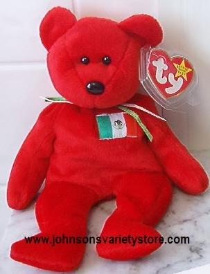 "Ty beanie baby ""OSITO"" MEXICO BEAR - Retired"