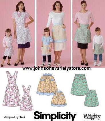 Simplicity 4692 Misses' and Child's matching Aprons