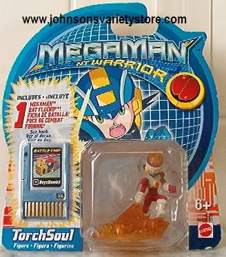 MEGAMAN NT Warrior TourchSoul Figure & Battlechip NEW!