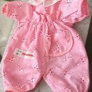 Kid connection Doll jumpsuit / outfit w/ pink giraffes