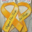 "Lot of 2 ""Support Our Troops"" Magnets 8"" Yellow ribbon"