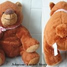 "9"" Sitting Goffa Brown Plush Bear w/ big nose"
