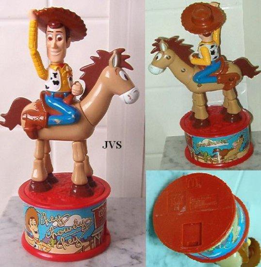 Woody & Bullseye Toy Story 2 Candy Dispenser McDonalds