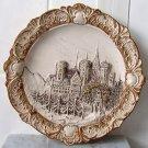 """Vintage 3-D Plate 6 1/2"""" Village scene"""