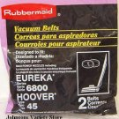 Eureka 6800 / Hoover 45 Rubbermaid Vacuum Belts (2) New