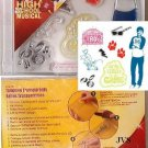 Disney HIGH SCHOOL MUSICAL CLEAR STAMPS Troy NEW!