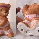 HOMCO - HOME INTERIOR AEROBIC EXERCISE BEARS Girl bear