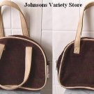 MARY KATE & ASHLEY BROWN & TAN CORDUROY HANDBAG PURSE