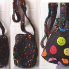 Hand Crochet Multi-color Shoulder bag / purse medium