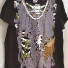 Ladies Gothic Perls Character tee shirt t-shirt