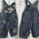Adorable Boys Tool Time Sz 3-6 mo Blue Jean Overalls