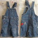 Kids AUTHENTIC LEE Jean Short 0veralls Sz 2T