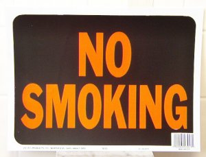 "Lot of 3 ""NO SMOKING"" 9""X12"" SIGNS #3013"