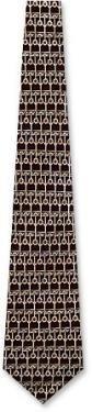 Divino by Keith Daniels brown silk tie