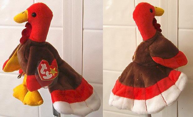 Ty Beanie baby plush Gobbles the turkey MWT