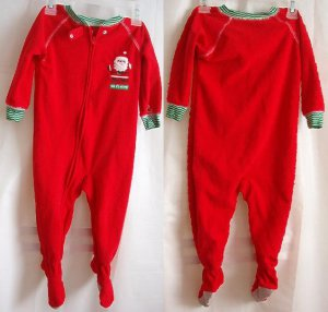 Carter's Child of Mine Santa's Helper Footed Sleeper Sz 18 mo Unisex