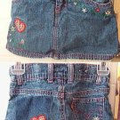 Girl's LEVI Jean skort (shorts w/ skirt over it) Sz 3T