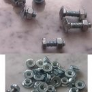 Lot of new Bolts With Lock Nut plus lot of self locking nuts
