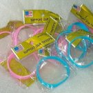 SUPPORT OUR TROOPS Wristbands 11 PCS Wholesale Set - Blue & Pink - NEW in Bags