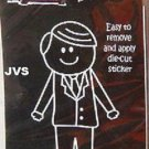 Lovett Our Family Stickers - Dad Father in Suit Die-Cut Sticker Business Man