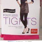 No Nonsense Ladies Footless Tights Control Top Opaque Size Small Brilliant Rose