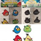 Angry Birds 4 Pack Rubber Magnets Red, Blue & Yellow Birds & King Green Pig New