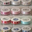 Ki Memories Bobbin Ribbon 3 Ft Mini Rolls Self-Adhsive 12 Different Style styles