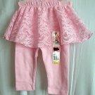 Girls Garanimals Pink Skeggings Skirt Leggings Pants 1 Piece Size 3-6mo NWT!